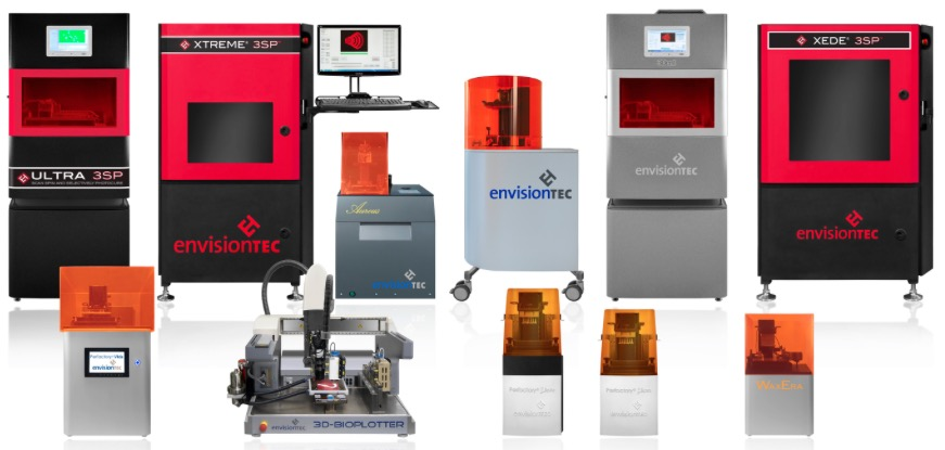Range of 3D Printing Machines by EnvisionTEC