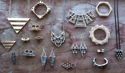 3D printed jewelry in all shapes and sizes
